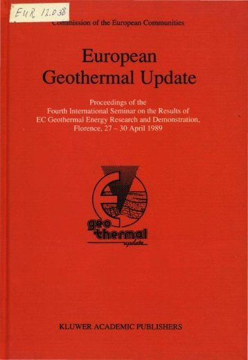 European Geothermal Update 1989 - IRETHERM