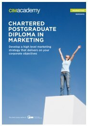 chartered postgraduate diploma in marketing - CIM Academy