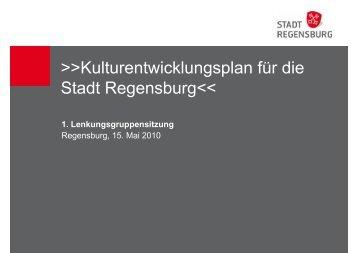 Kulturentwicklungsplan für die Stadt Regensburg