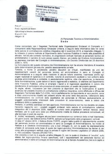 nota risposta rich.parere.pdf - Università del Sannio