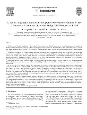 The Paleosol of Eboli - Università del Sannio