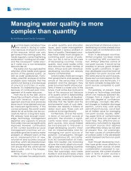Managing water quality is more complex than quantity