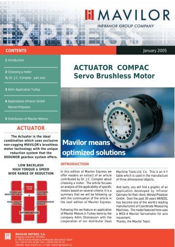 ACTUATOR COMPAC Servo Brushless Motor Mavilor means ...
