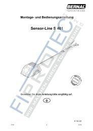 Montage- und Bedienungsanleitung Sensor-Line S 401