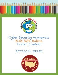 Cyber Security Awareness Kids Safe Online Poster Contest ...