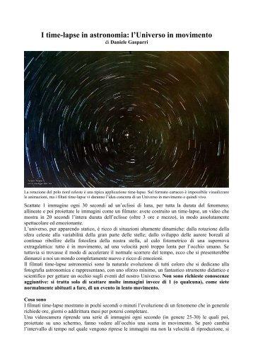 l'Universo in movimento - Danielegasparri.com
