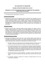 the law society of singapore council's practice direction 3 of 2013 ...