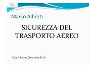 SICUREZZA DEL TRASPORTO AEREO - Acemc.it
