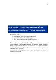 dokumentu veidošana tekstapstrādes programmā microsoft
