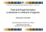 Fast-and-frugal heuristics e decisione in medicina d ... - Acemc.it