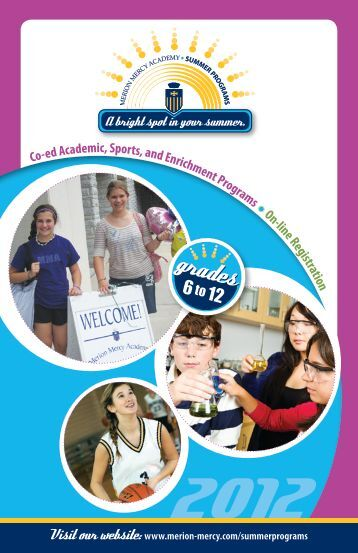 to view the 2012 Summer Programs brochure - Merion-Mercy ...
