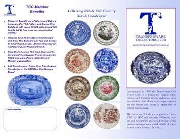 TCC Brochure Final EDITED Dec 2010 - Transferware Collectors Club
