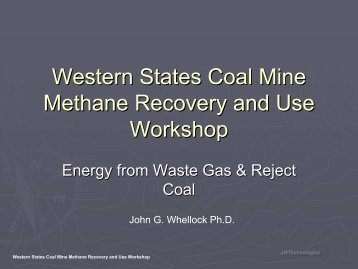 Energy from Waste Gas & Reject Coal