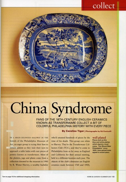 ina Syndrome Ch - Transferware Collectors Club