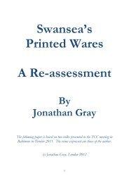 Swansea's Printed Wares - Transferware Collectors Club