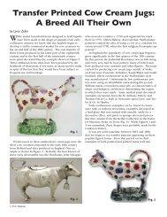 Transfer Printed Cow Cream Jugs - Transferware Collectors Club