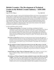British Ceramics: The Development of Technical Genius in