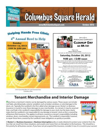 Columbus Square Newsletter - October 2012 - Hadler Companies