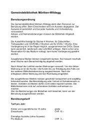 Gemeindebibliothek Möriken-Wildegg Benutzungsordnung