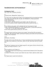 Merkblatt Hundekontrolle [PDF, 53.0 KB] - Gemeinde Möriken-Wildegg