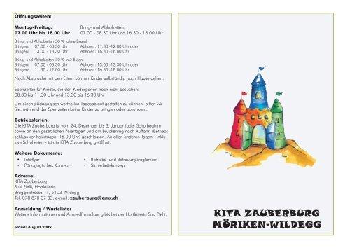 KITA ZAUBERBURG MÖRIKEN-WILDEGG - Gemeinde Möriken ...
