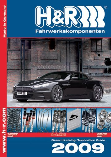 H&R Katalog Umschlag 1+2 - Quadrant Automotive Suspensions