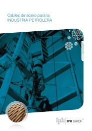 Cables de acero para la INDUSTRIA PETROLERA - Amazon S3