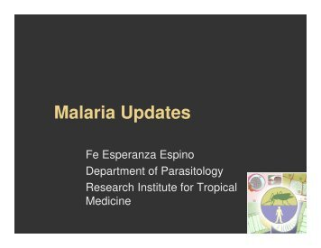 08Lec-MALARIA UPDATES.pdf - Pediatric Infectious Disease ...