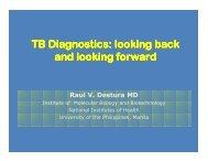 TB Diagnostics - Pediatric Infectious Disease Society of the Philippines