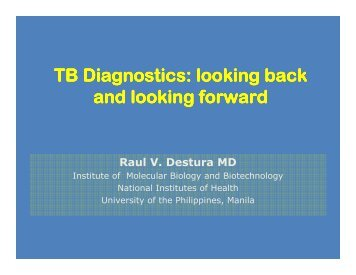 TB Diagnostics - Pediatric Infectious Disease Society of the Philippines