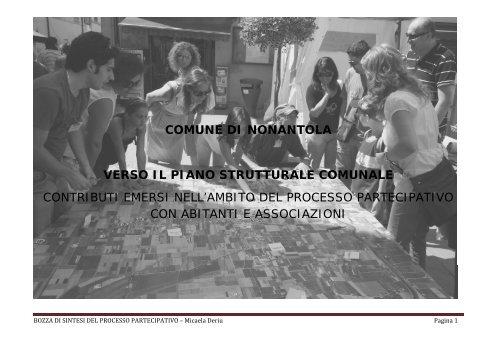 BOZZA DI SINTESI PROCESSO PARTECIPATIVO.pdf - Unione dei ...