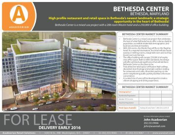 BETHESDA CENTER - Asadoorian Retail Solutions > Home