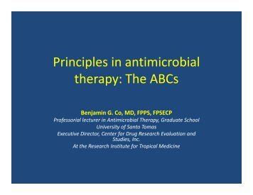 Principles in antimicrobial therapy - Pediatric Infectious Disease ...