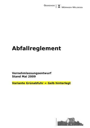 Erschliessungregl. AG 1.Entwurf - Gemeinde Möriken-Wildegg
