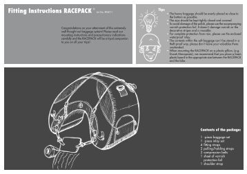 Fitting Instructions RACEPACK Art.No. RP4011 - A Vicious Cycle