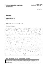 Antrag - Thomas Sternberg MdL