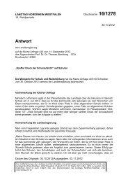 Antwort - Thomas Sternberg MdL