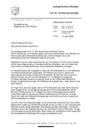 Landtag Nordrhein-Westfalen Prof. Dr. Thomas Sternberg MdL ...