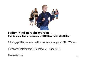 schule - Thomas Sternberg MdL