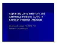 Appraising Complementary and Alternative Medicine - Pediatric ...