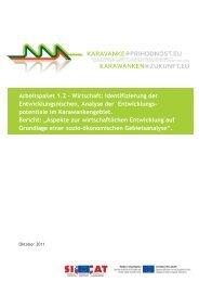 """Bericht: """"Aspekte zur wirtschaftlichen Entwicklung ... - Karavanke.eu"""