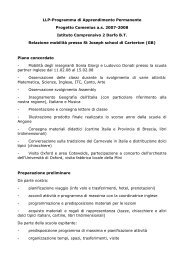 LLP-Programma di Apprendimento Permanente Progetto Comenius ...