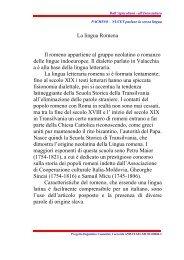 La lingua Romena Il romeno appartiene al gruppo neolatino o ...