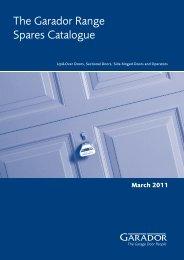 The Garador Range Spares Catalogue