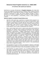 Relazione Finale Progetto Comenius a.s. 2008/2009 - Indire