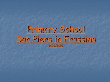 Primary School San Piero in Frassino 2005/2006