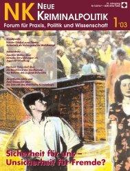 Ganzes Heft zum Download (2.1 MB) - Zeitschrift Neue Kriminalpolitik