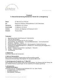 Protokoll der Generalversammlung 2012 - Zündschnur