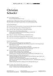 Christian Schoeler - Galerie Urs Meile