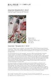 "Andreas Golder ""Retrospektive 2011.7 – 2011.8"" - GALERIE URS ..."